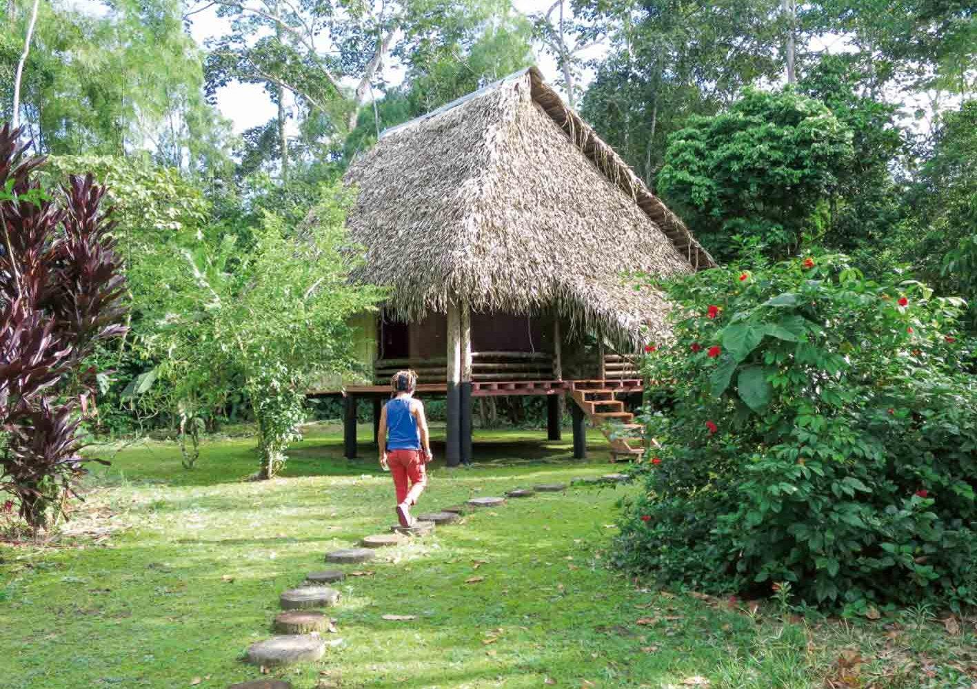 Bungalow der Aramacao Amazonas Urwald-Lodge, Ecudaor