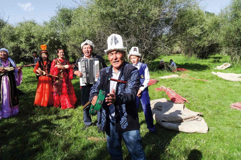 Musiker in Kirgisien