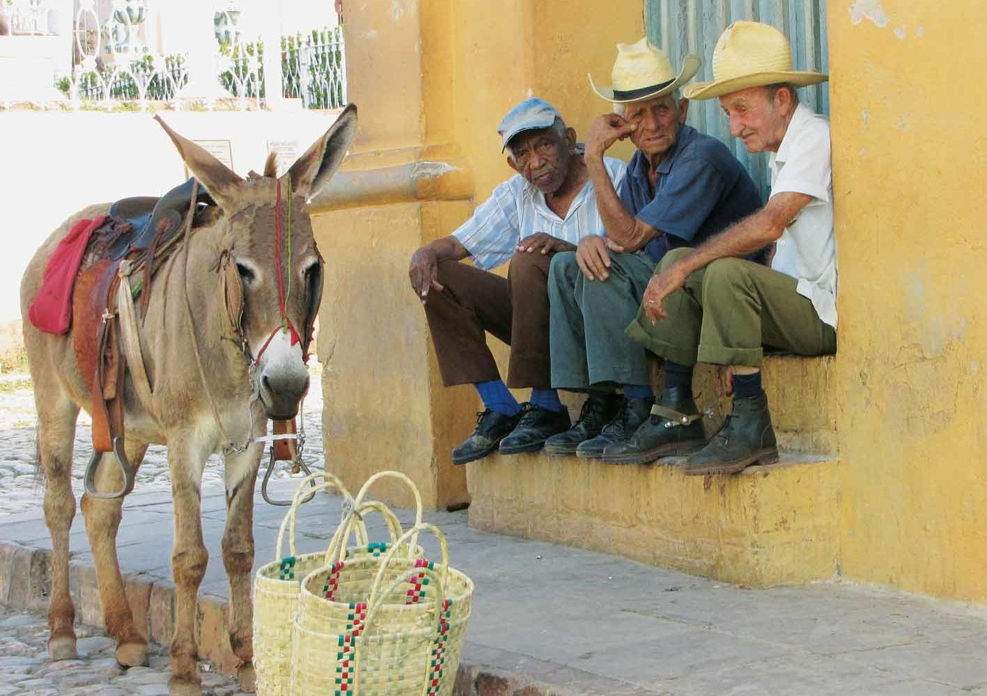 Gemütliches Beisammensein in Trinidad, Kuba