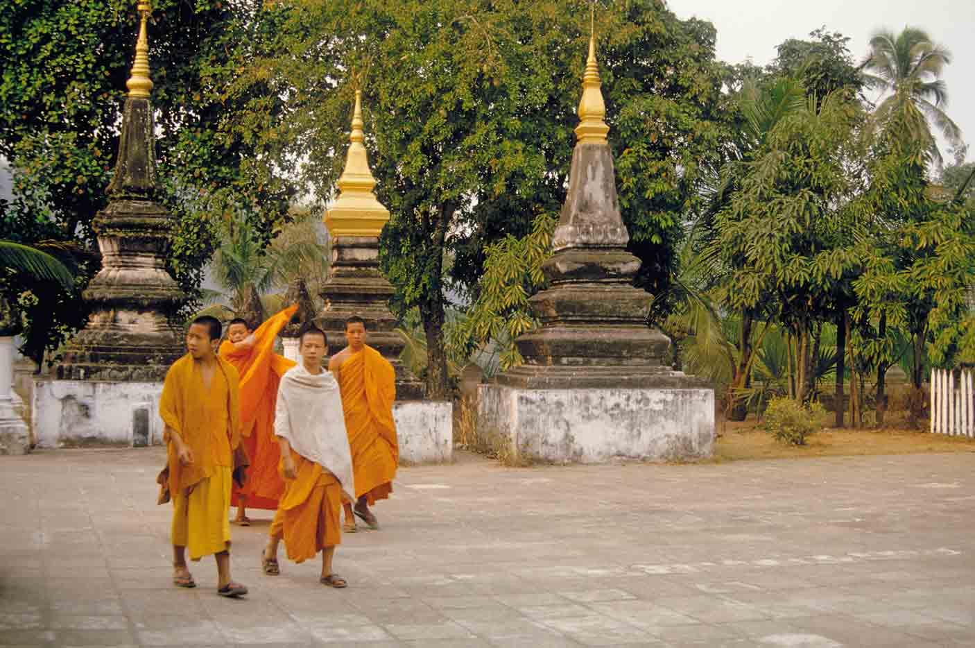 Mönche in Luang Prabang