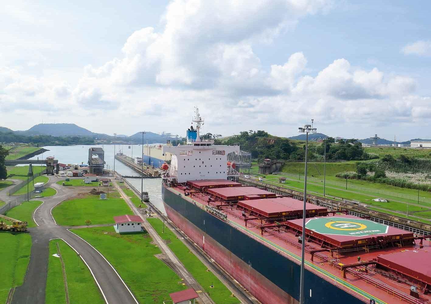Berühmter Panama-Kanal