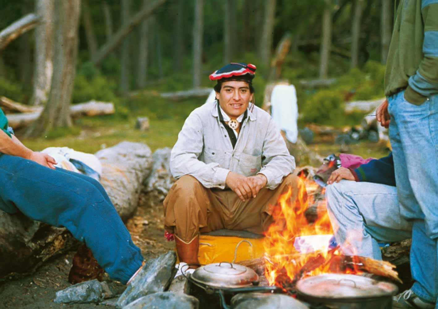 Patagonien-Reise, Lagerstimmung auf dem Trekking, Argentinien