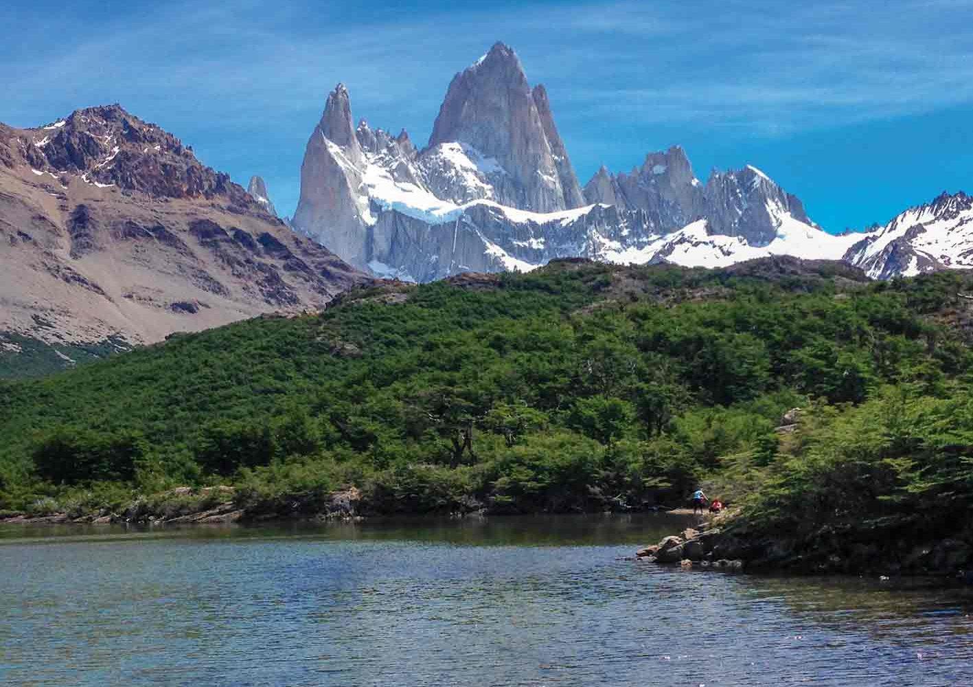 Laguna Capri, Blick auf Fitz Roy, Patagonien, Argentinien