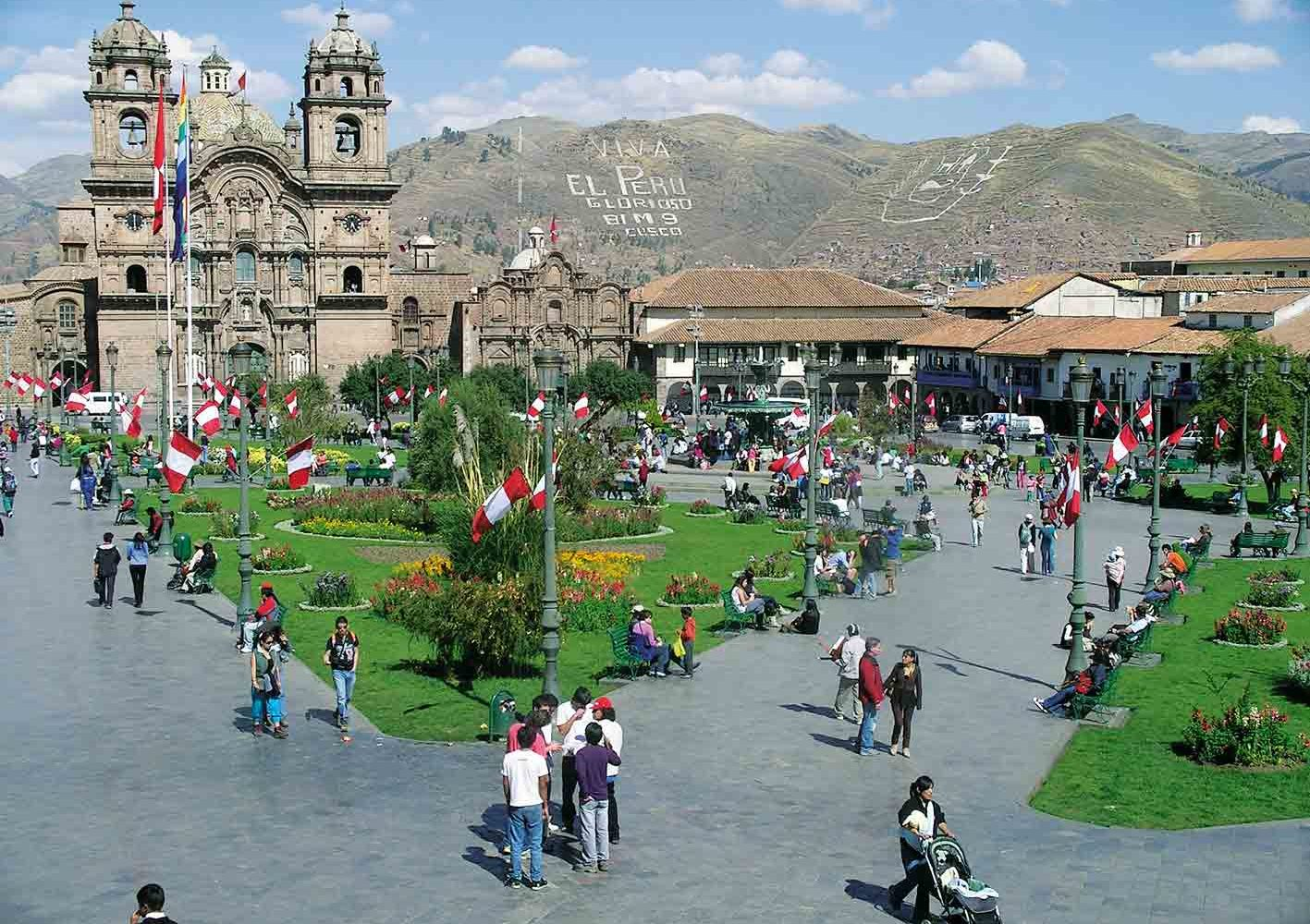 Prächtige Kolonialbauten in Cuzco, Peru