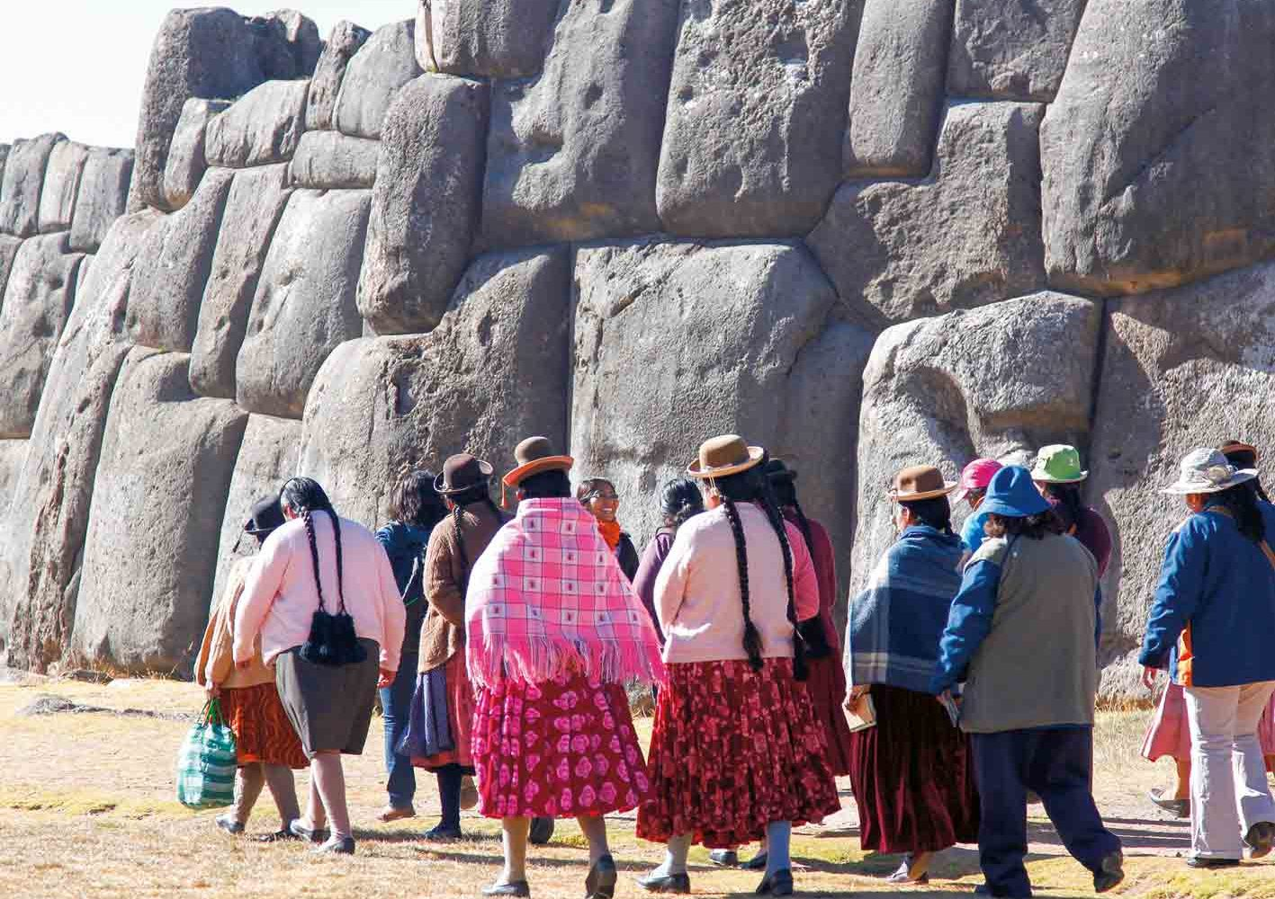 Inka-Stätte Saqsayhuamán bei Cuzco, Peru