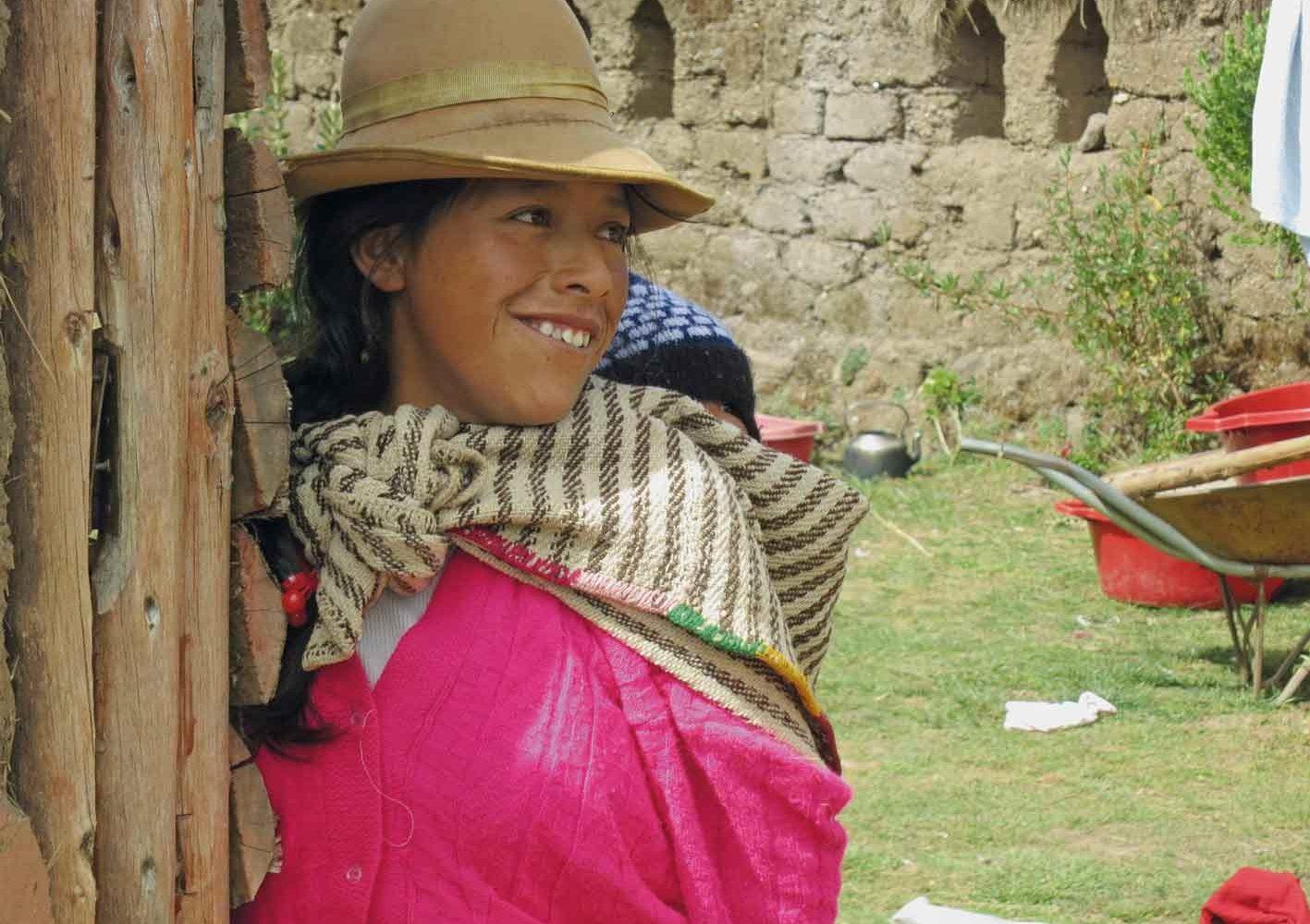 Begegnung im Heiligen Tal bei Cuzco