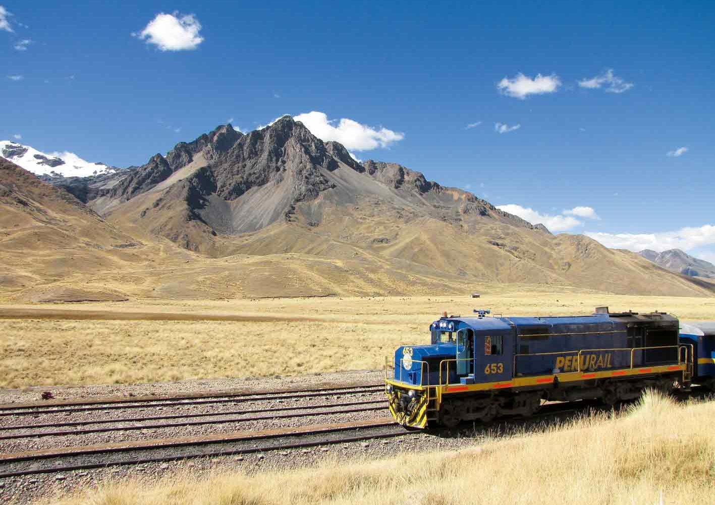 Auf der Zugfahrt von Cuzco nach Puno
