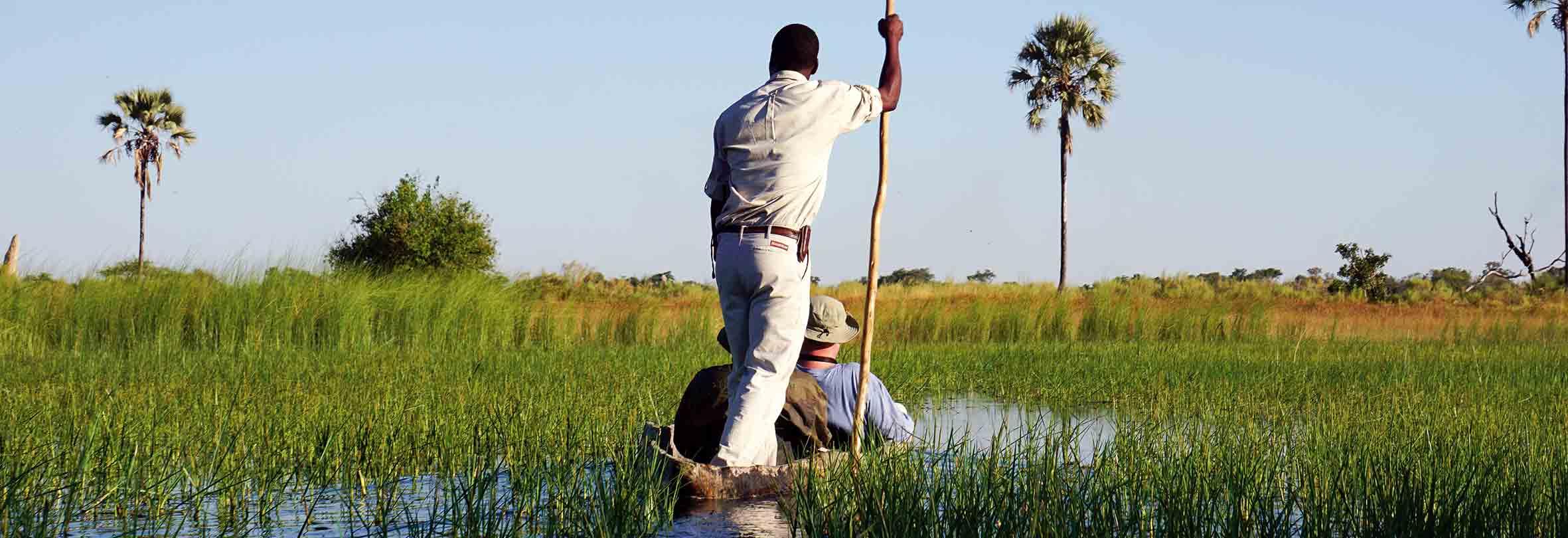 Mokoro-Fahrt im Okawango-Delta, Botswana