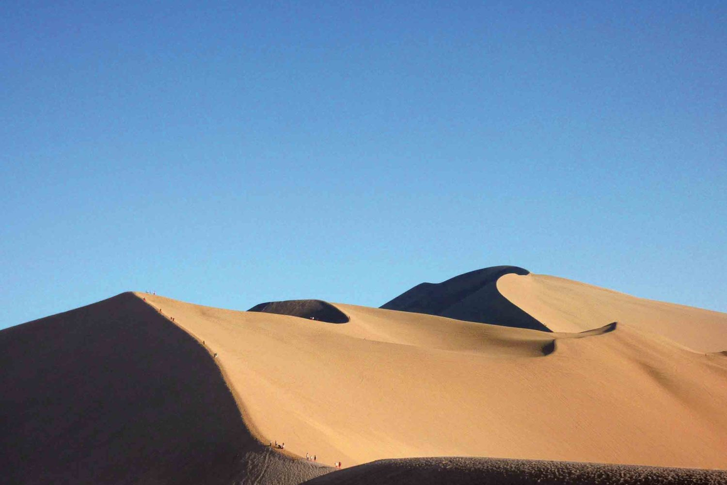 Wüstenlandschaft in Dunhuang, China