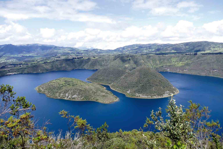 Wanderung rund um den Cuicocha-Kratersee, Ecuador