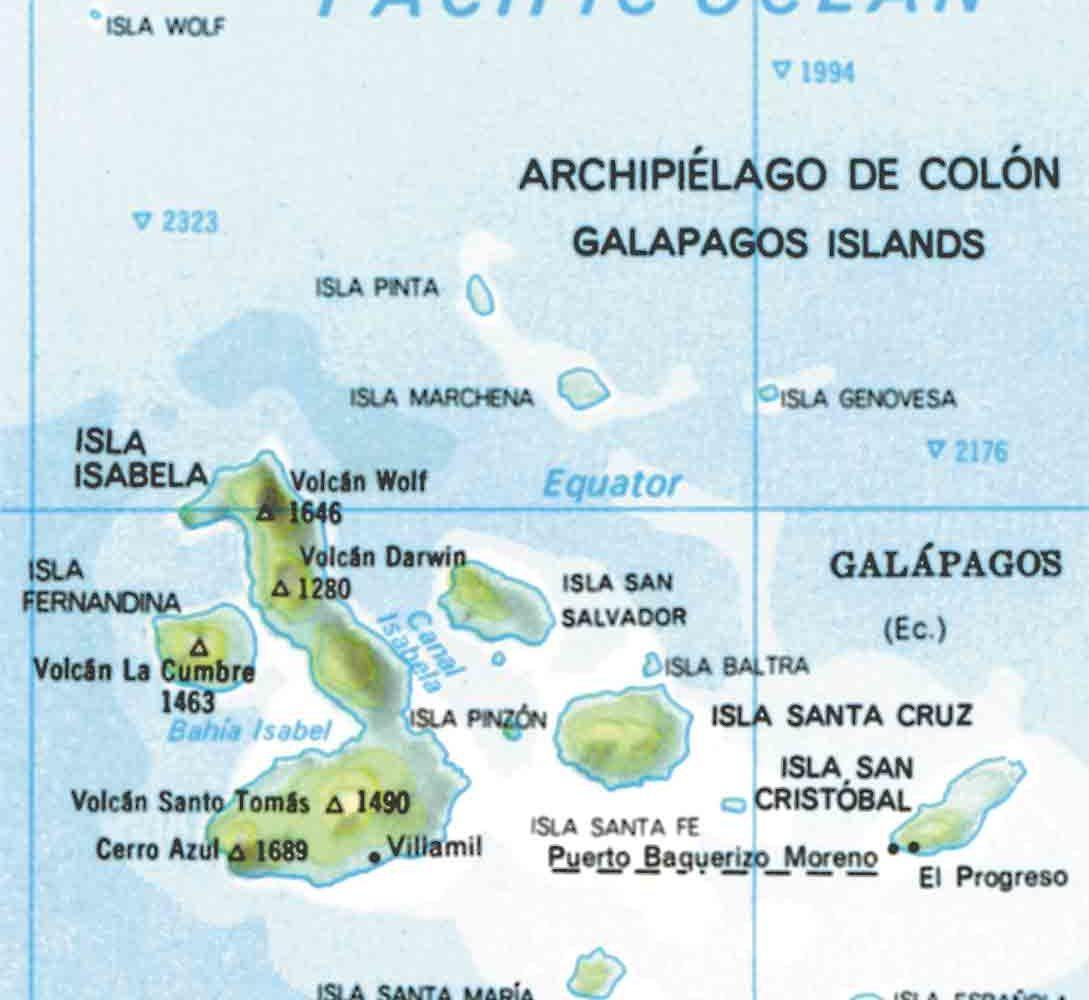 Karte von Galapagos