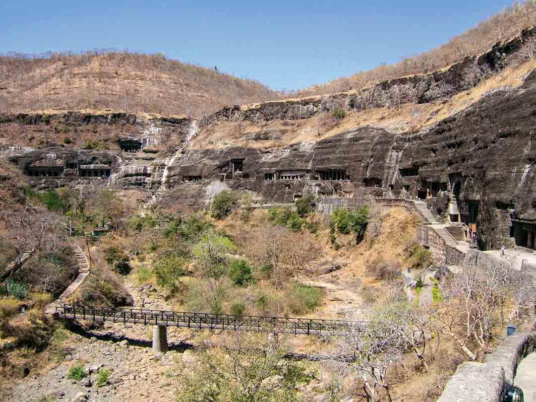 Buddhistische Höhlentempel von Ajanta, Indien