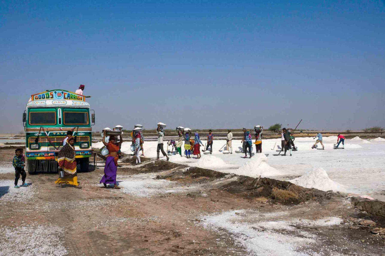 Salzgewinnung, Little Rann of Kutch, Indien
