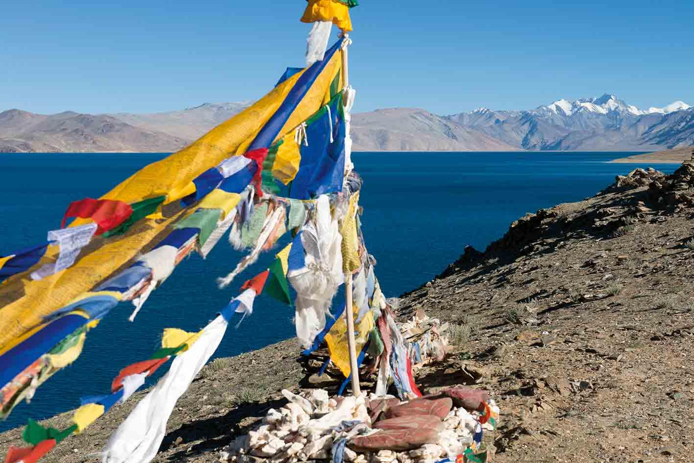 Der Tso Moriri-See, im Osten von Ladakh gelegen.