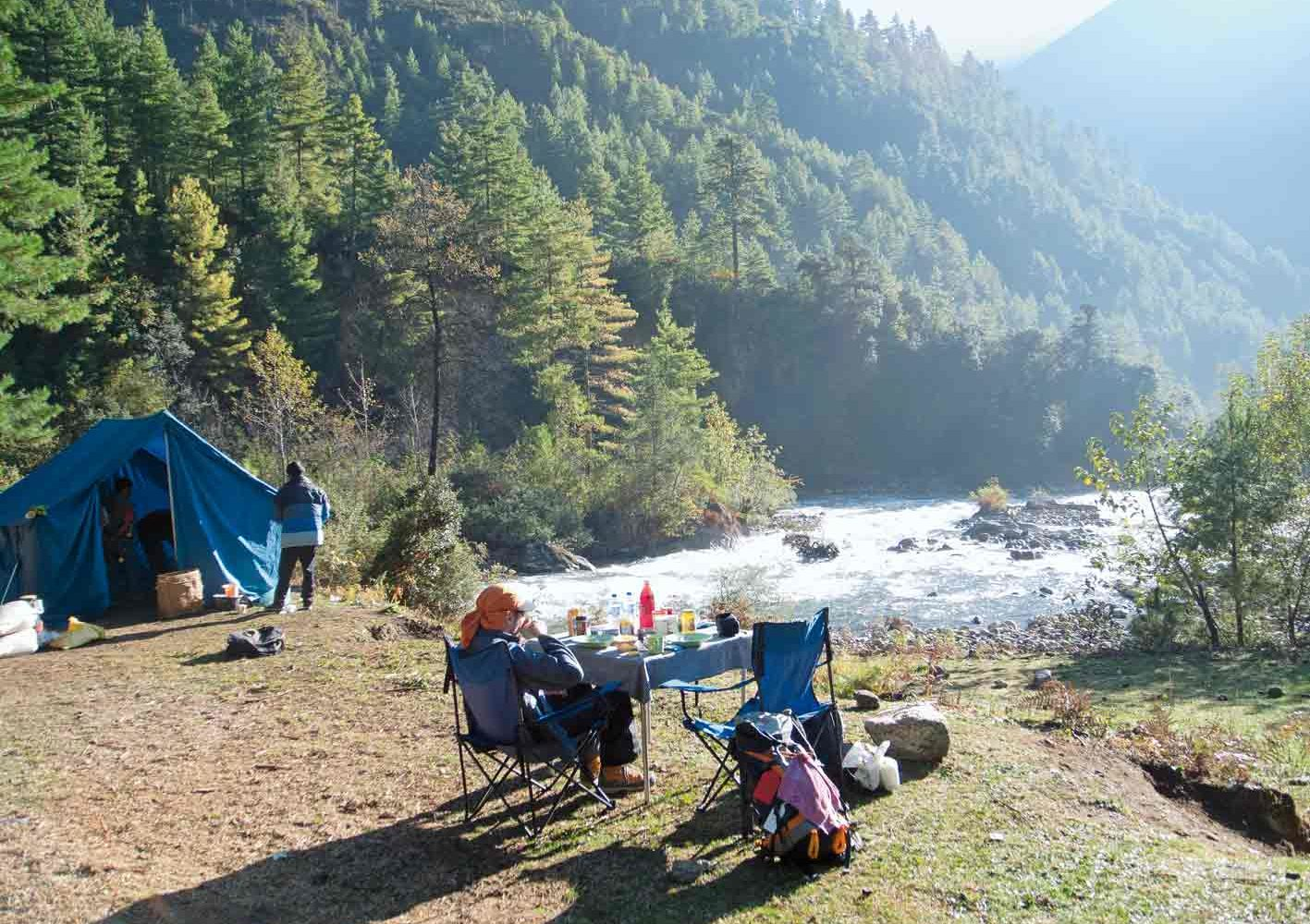 Gemütliches Camp während des Trekkings