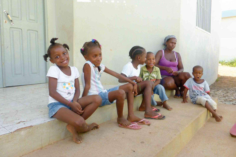 Schulkinder des Jugendprojekts von Erich Marti
