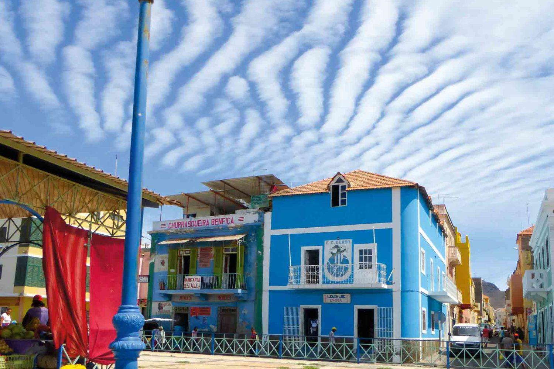 Schmucke Häuser in Mindelo, Cabo Verde