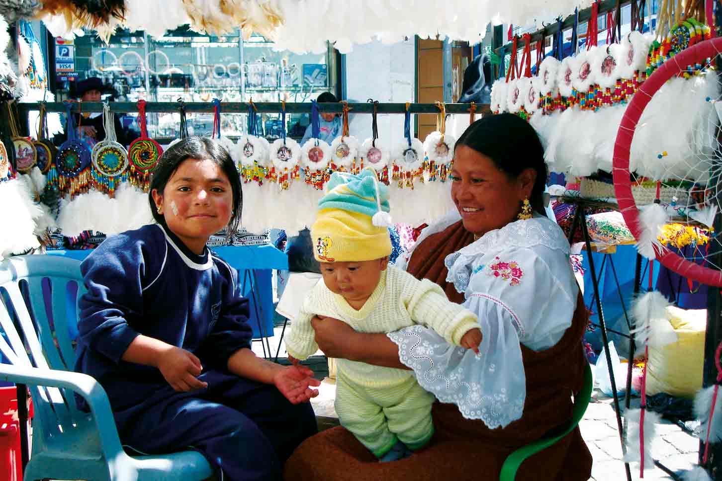 Marktbesuch in Otavalo