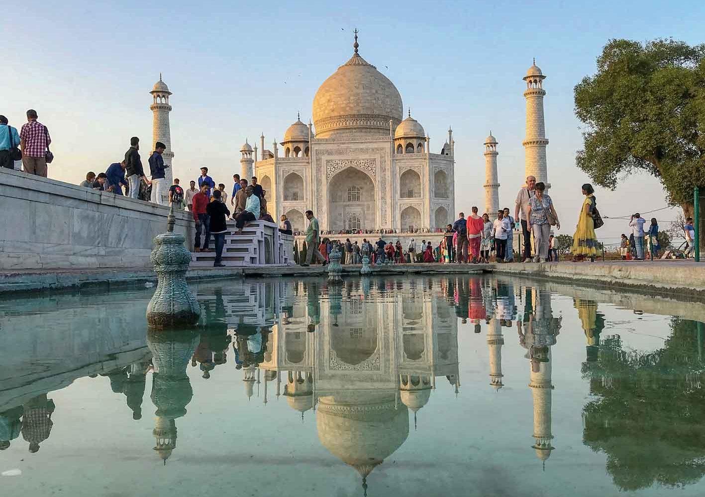 Eines der sieben neuen Weltwunder: Der Taj Mahal, Indien