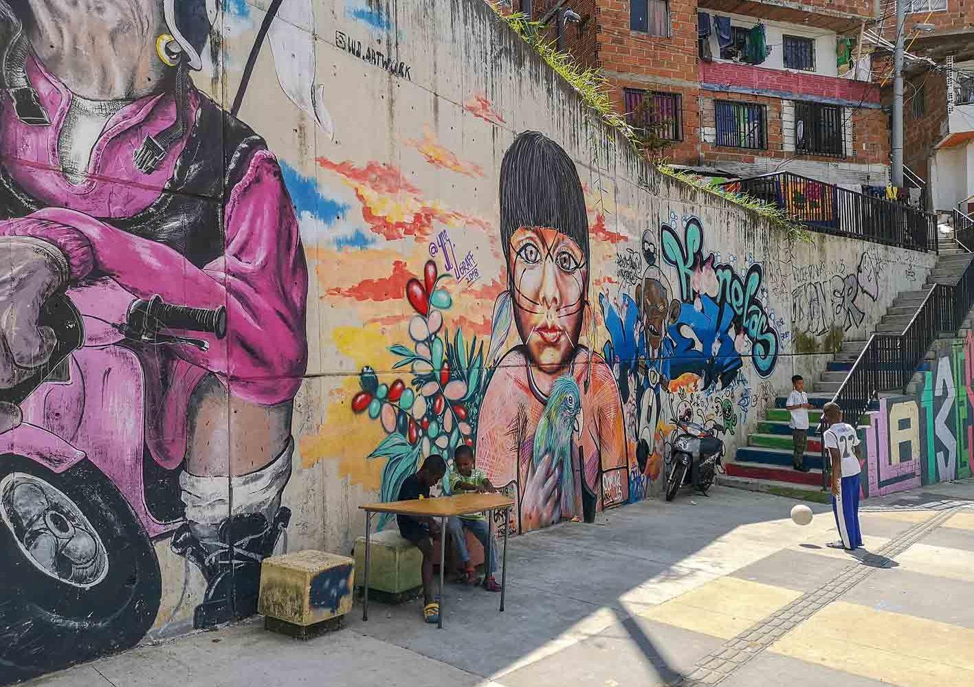 In den Gassen von Medellín, Kolumbien