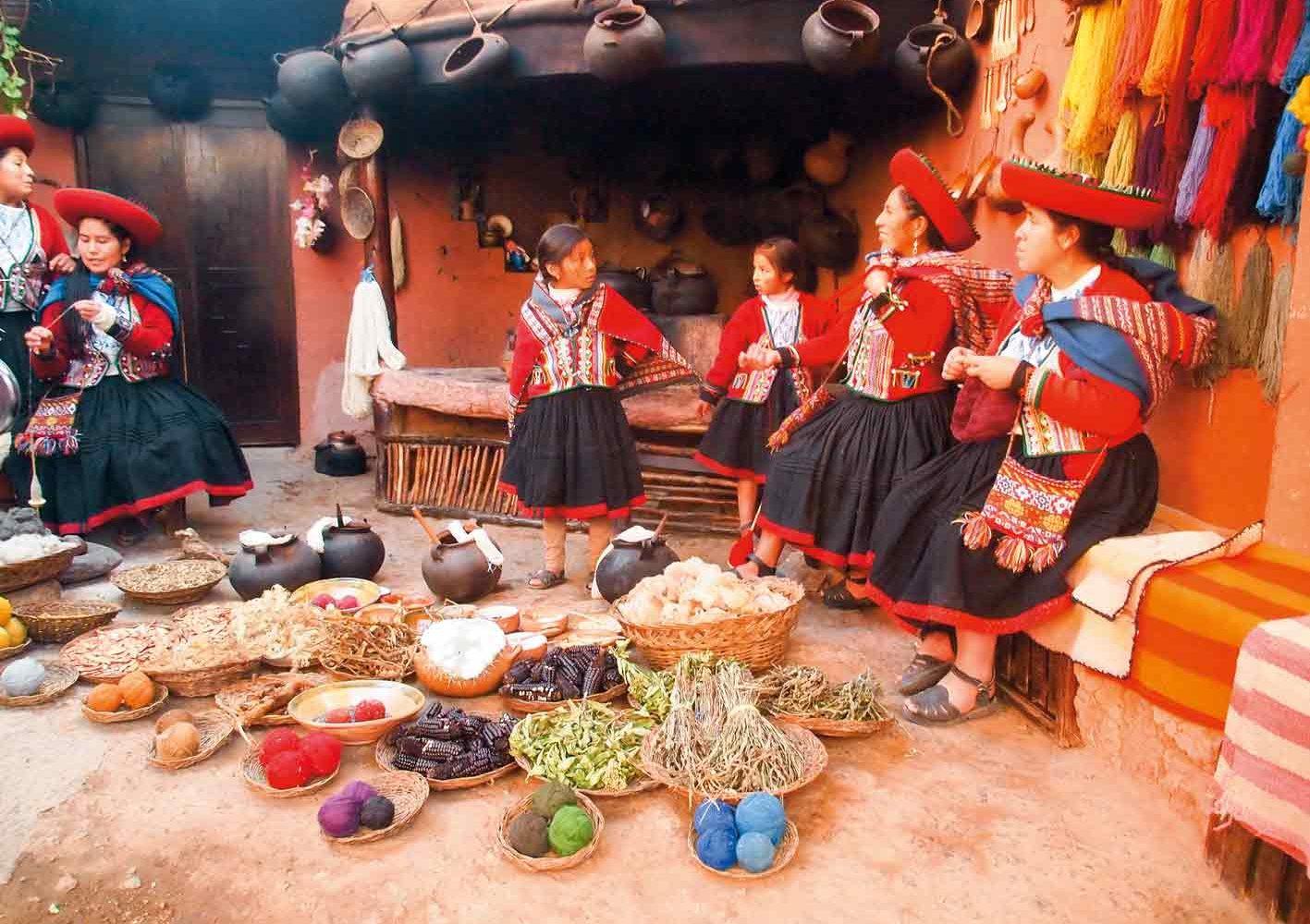 Wir erhalten einen Einblick in das Leben der Einheimischen, Peru