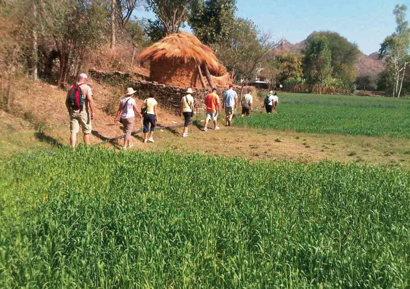 Auf dieser Indien-Rajasthan-Reise sind wir auch zu Fuss unterwegs.