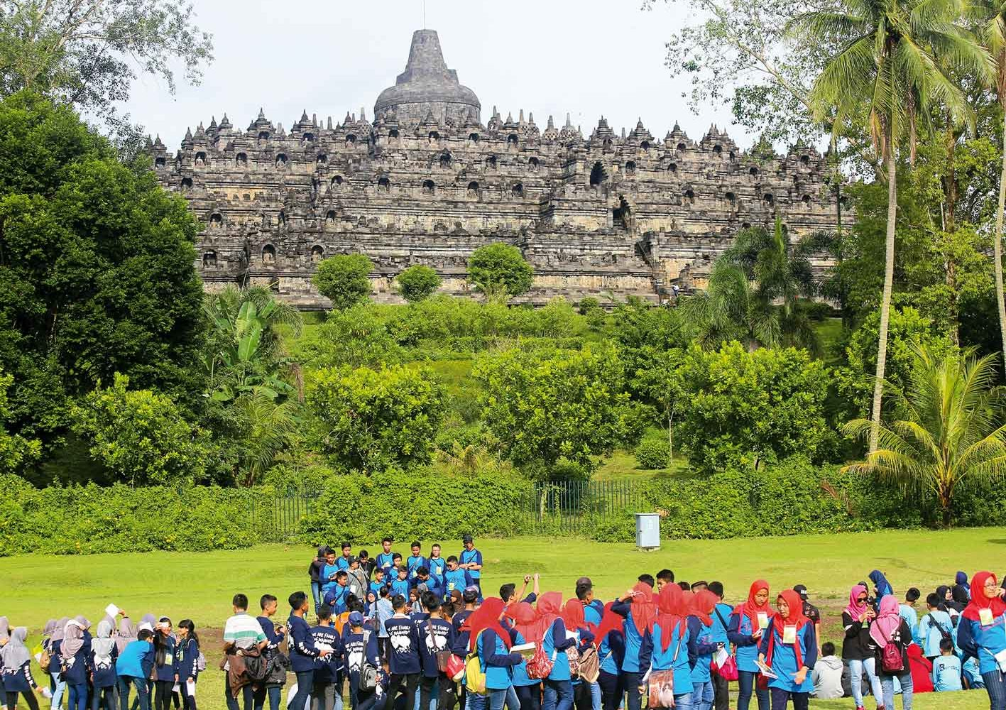 Weltkulturerbe: Die Tempelanlage Borobudur auf Java, Indonesien