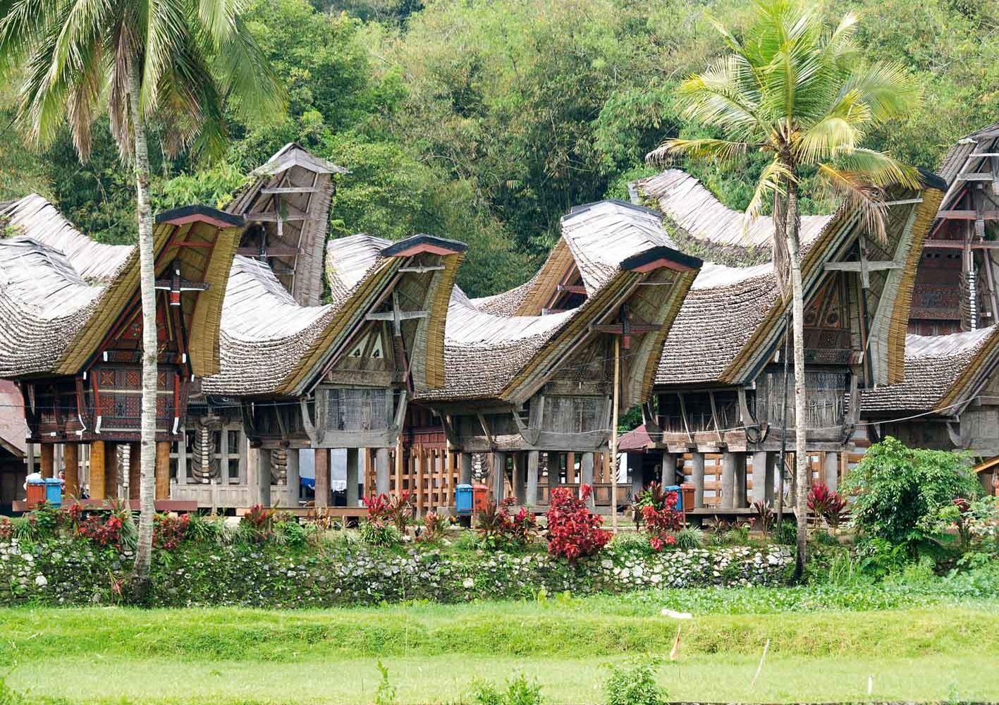 Typische Häuser im Toraja-Land, Indonesien