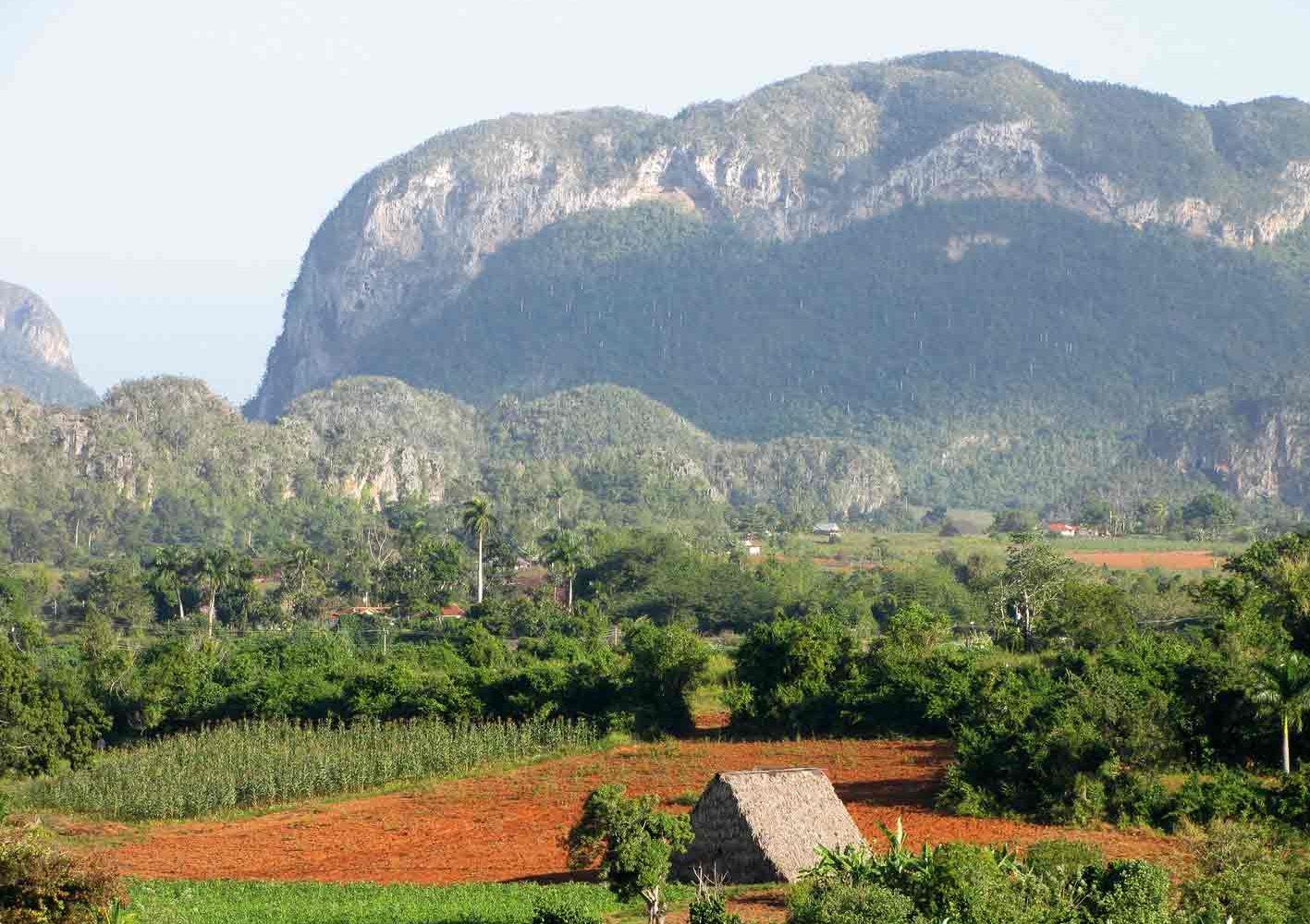 Tabakfelder im Viñales-Tal, im Westen von Kuba