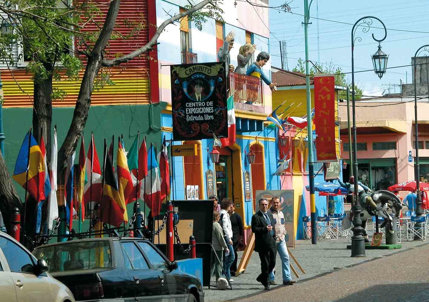 Künstlerviertel La Boca in Buenos Aires, Argentinien
