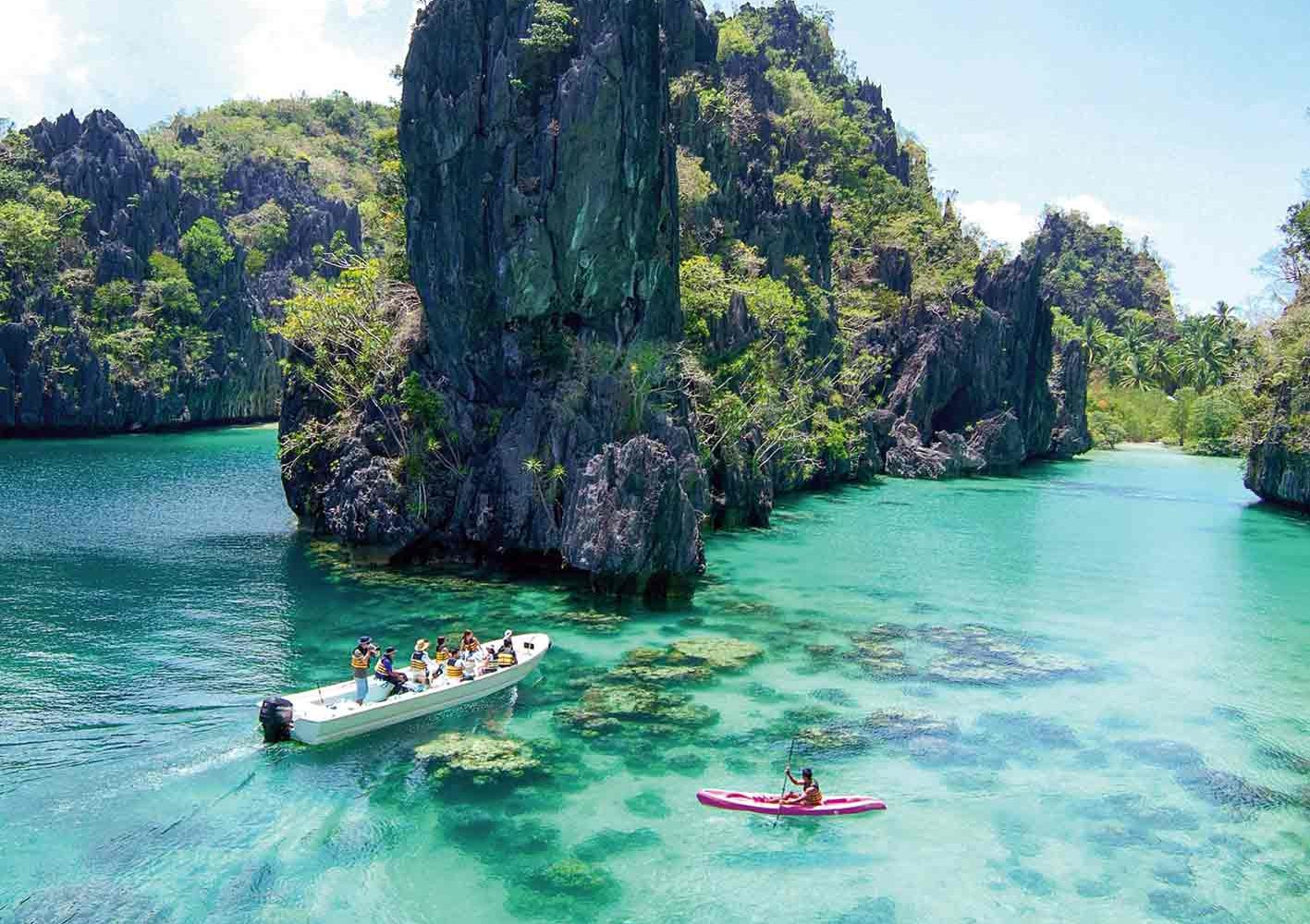 El Nido-Lagune, Palawan, Philippinen