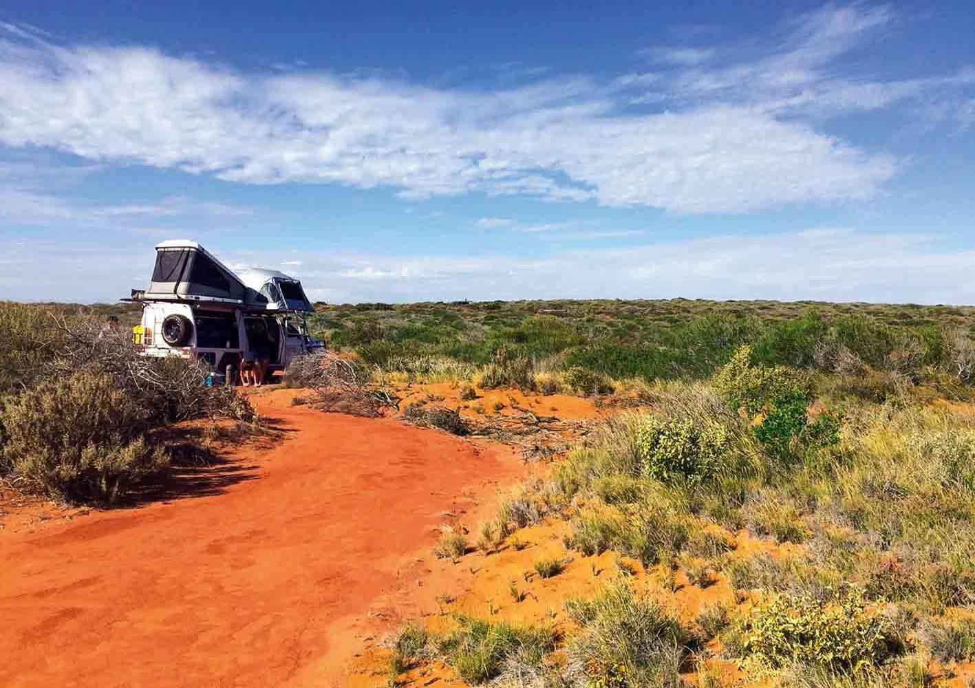 Campingplatz mitten in der Wildnis, West-Australien
