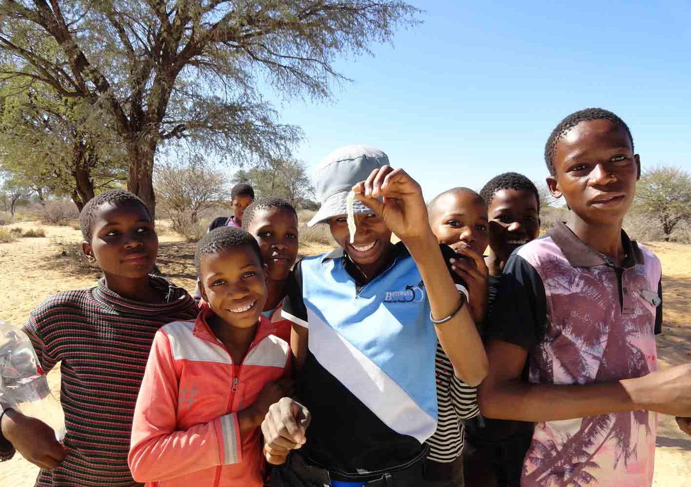 Zu Besuch in einem Dorf, Botswana