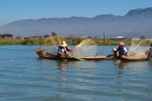 Fischer auf dem Inle-See, Myanmar