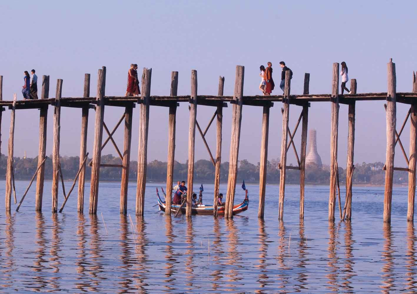 U-Bein-Brücke in Mandalay, Myanmar