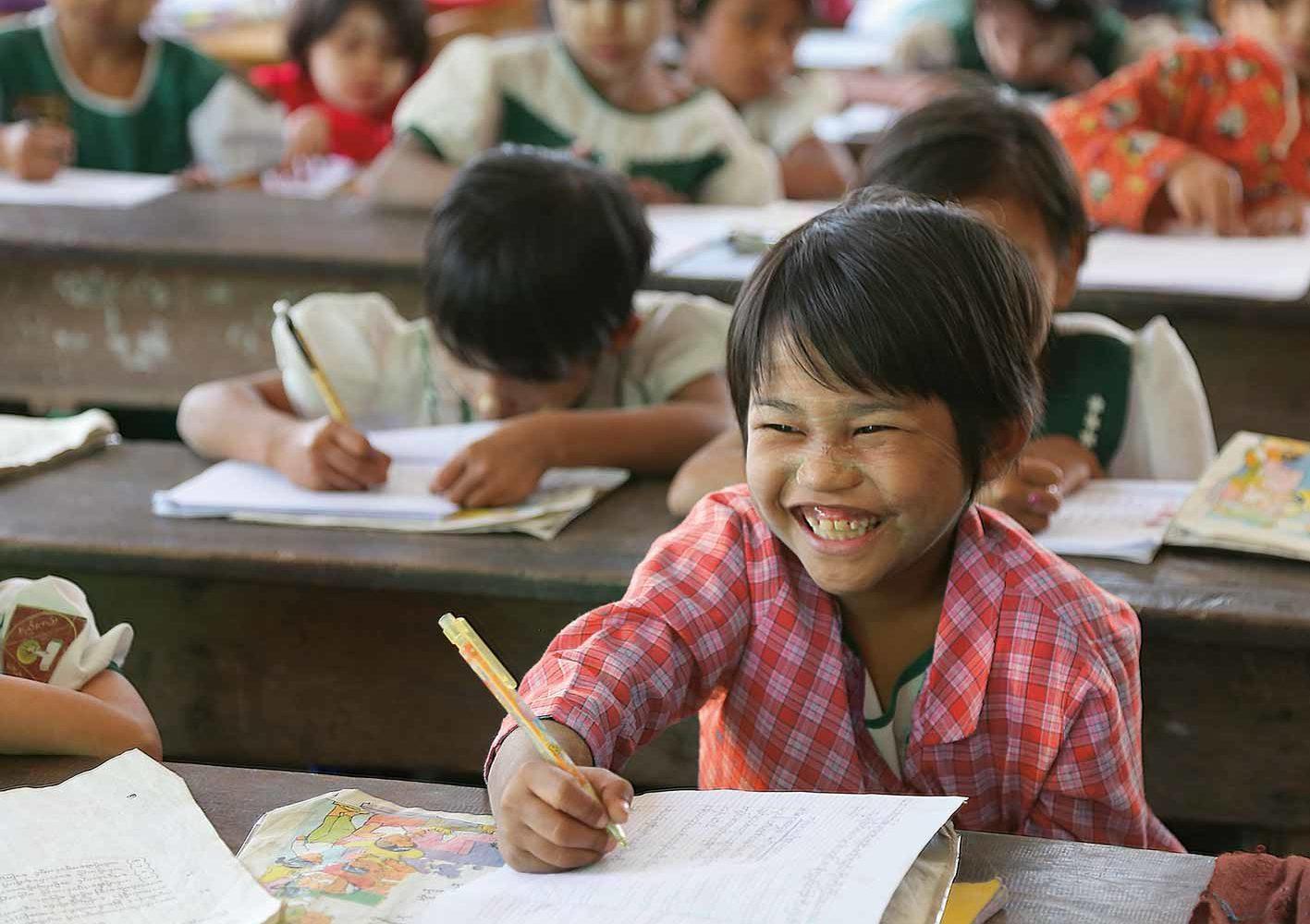 Besuch einer Schule in Myanmar
