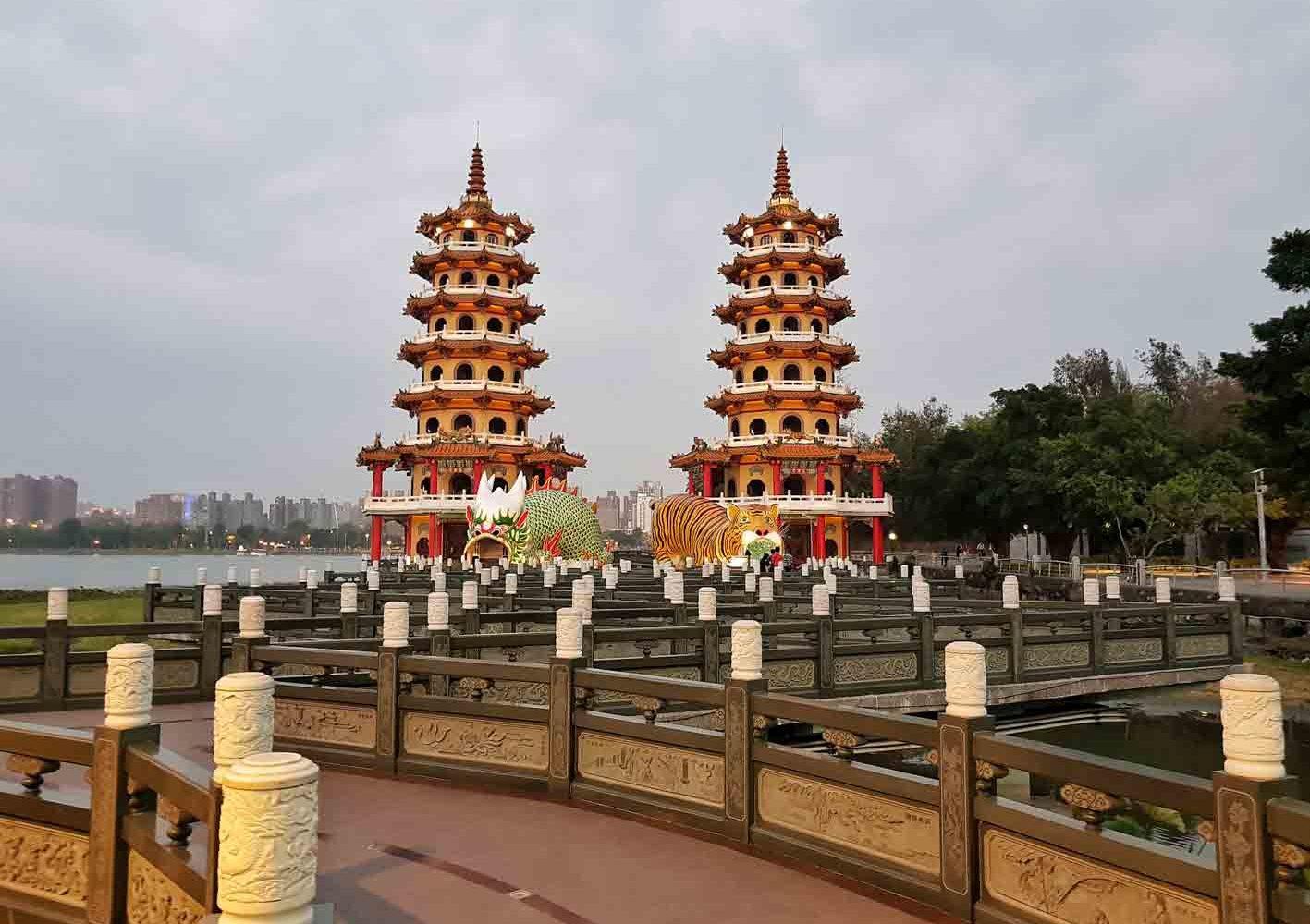 Tempel in Kaohsiung, Taiwan