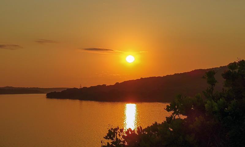 Abendstimmung am Nhambavale-See