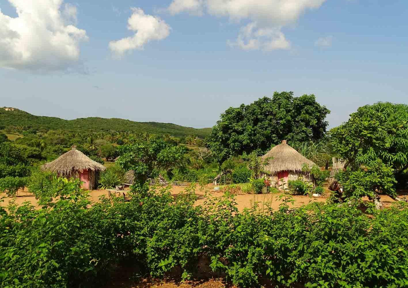 Einfaches Landleben in Mozambique