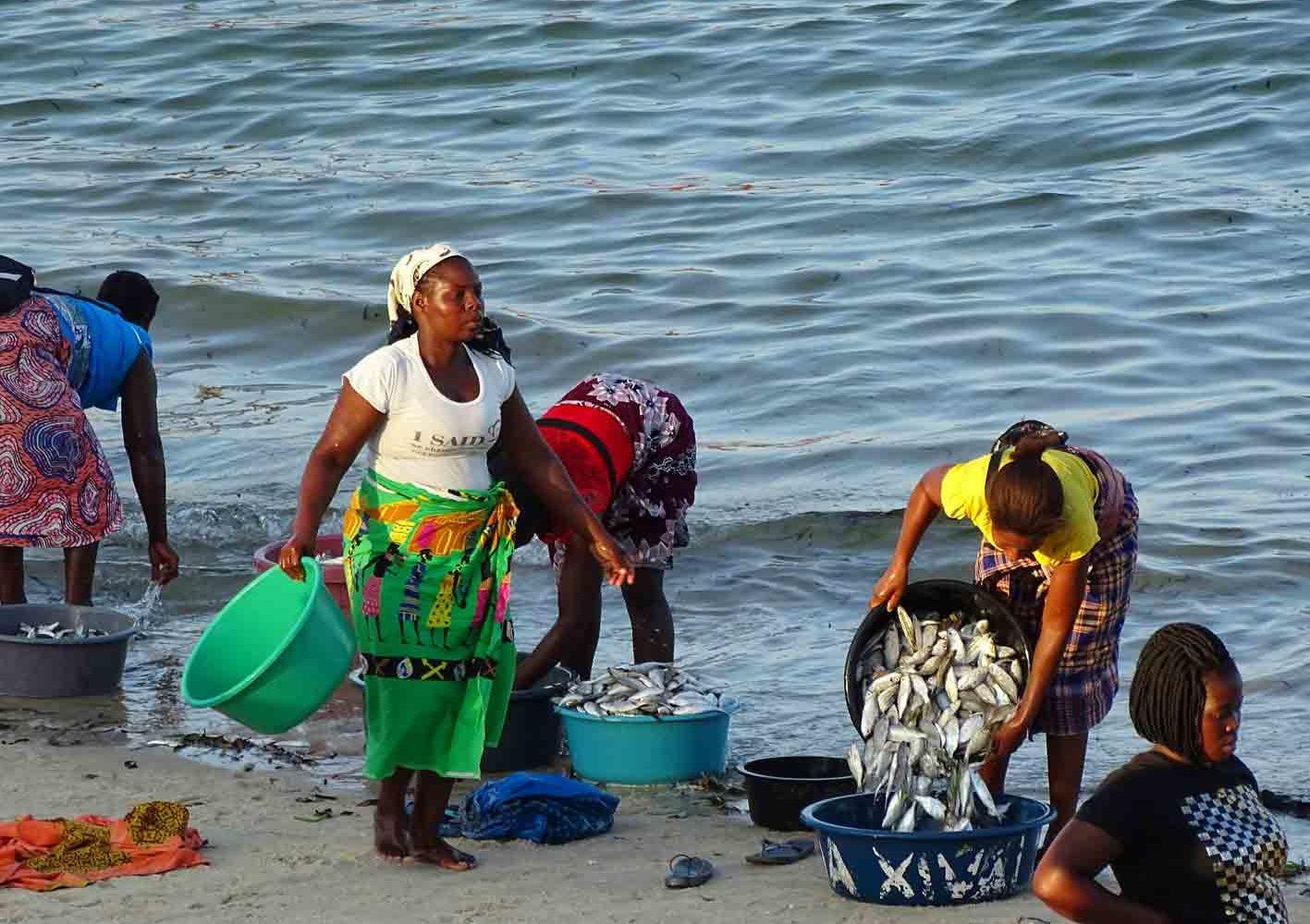 Fischfang, Vilanculos, Mozambique
