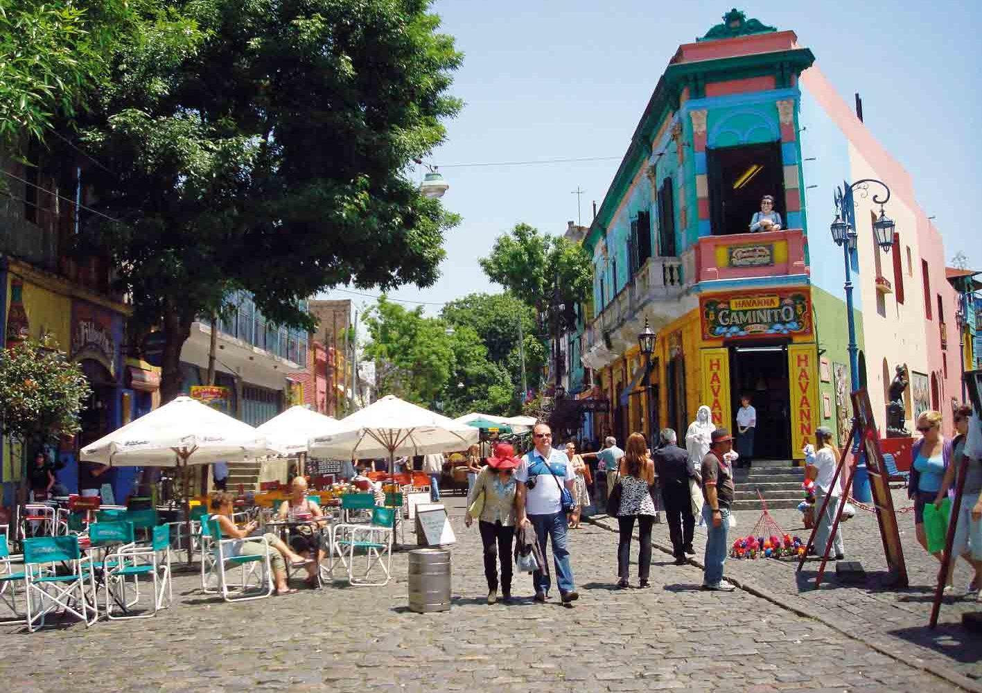 Buntes Künstlerviertel La Boca in Buenos Aires, Argentinien