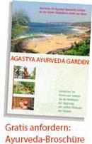 Agastya Ayurveda Garden-Broschüre Bestellung, Kerala, Südindien