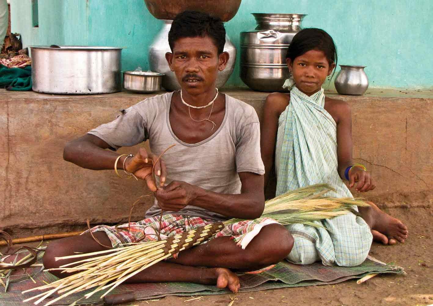 Besenmacher bei Jagdalpur, Indien