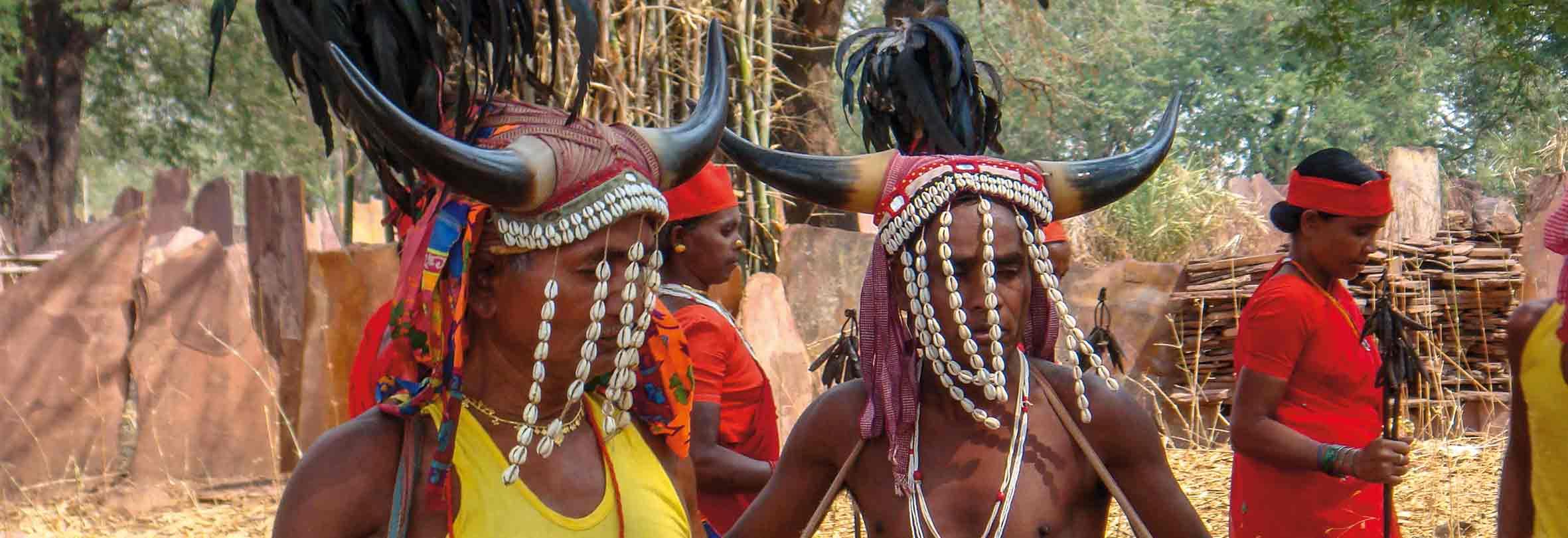 Bisonhonr-Tanz der Murias, Chhattisgarh, Indien