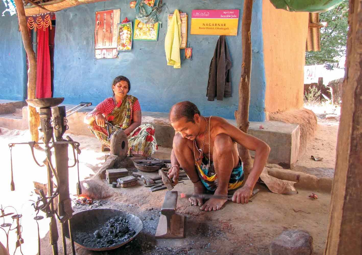 Kundsthandwerk in Kondagaon, Indien