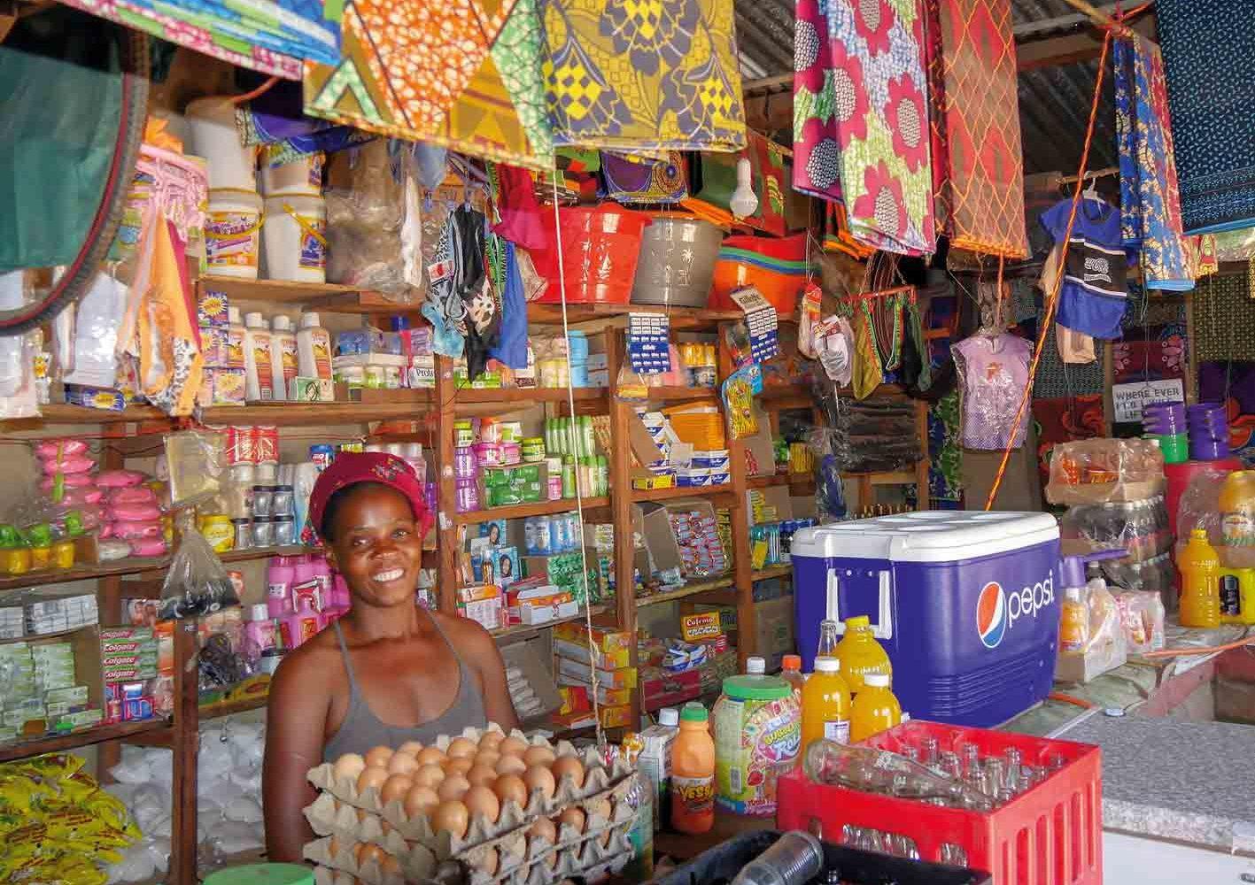 Kiosk in Zambia