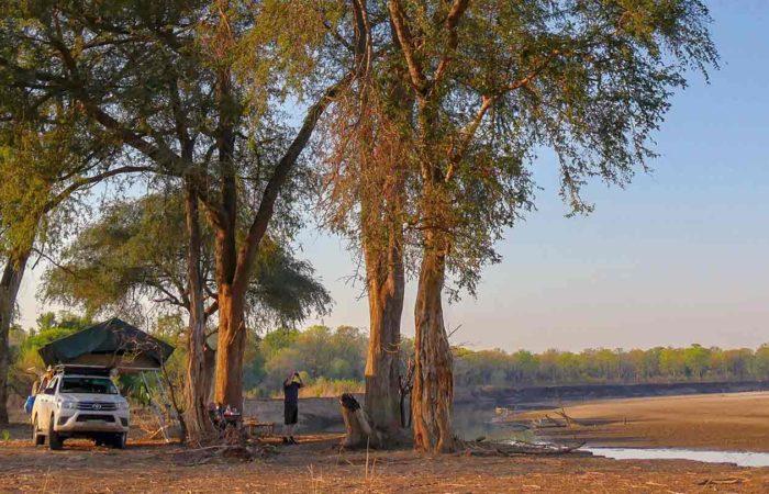 Gemütliches Camp inmitten der Natur, Zambia