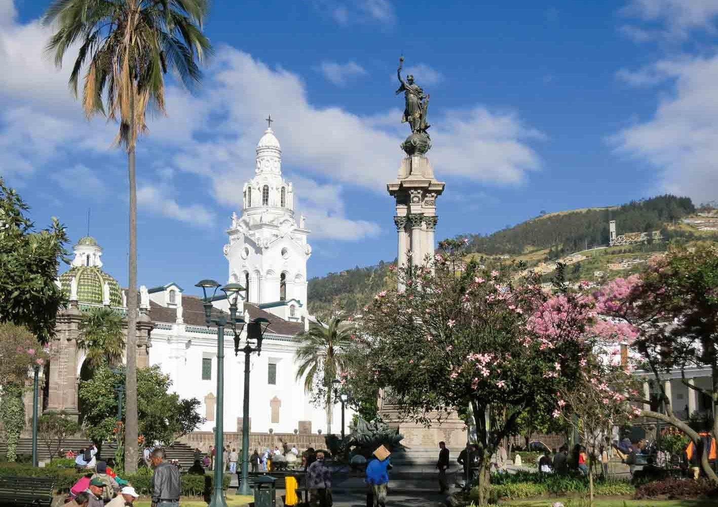 Plaza de Armas in Quito, Ecuador