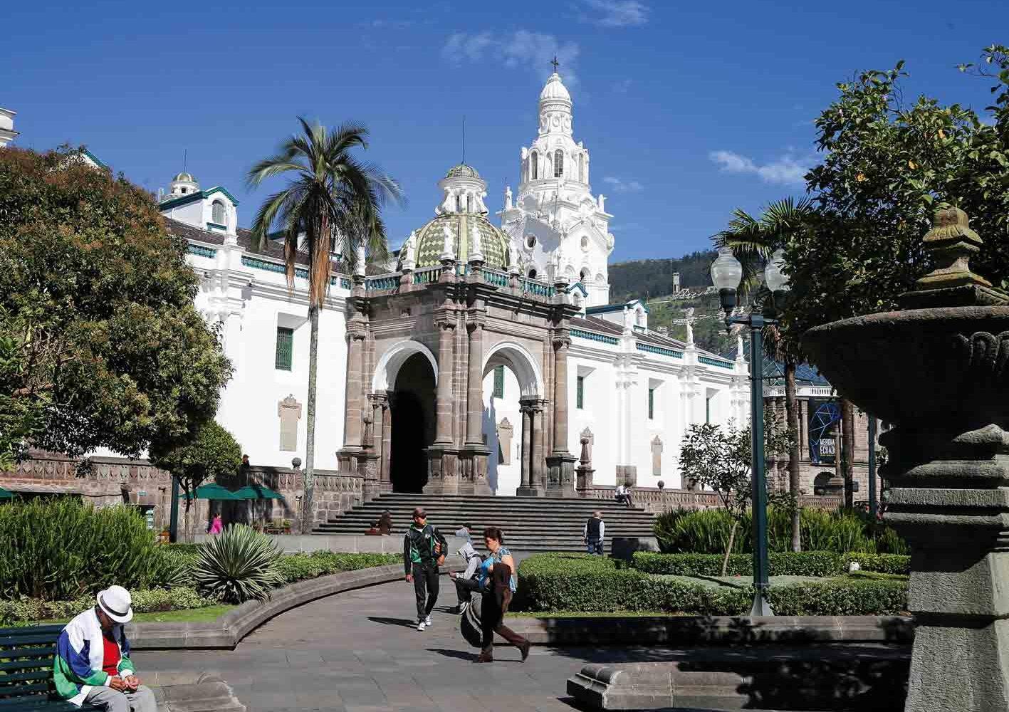 Wir entdecken die wunderschöne Altstadt von Quito.