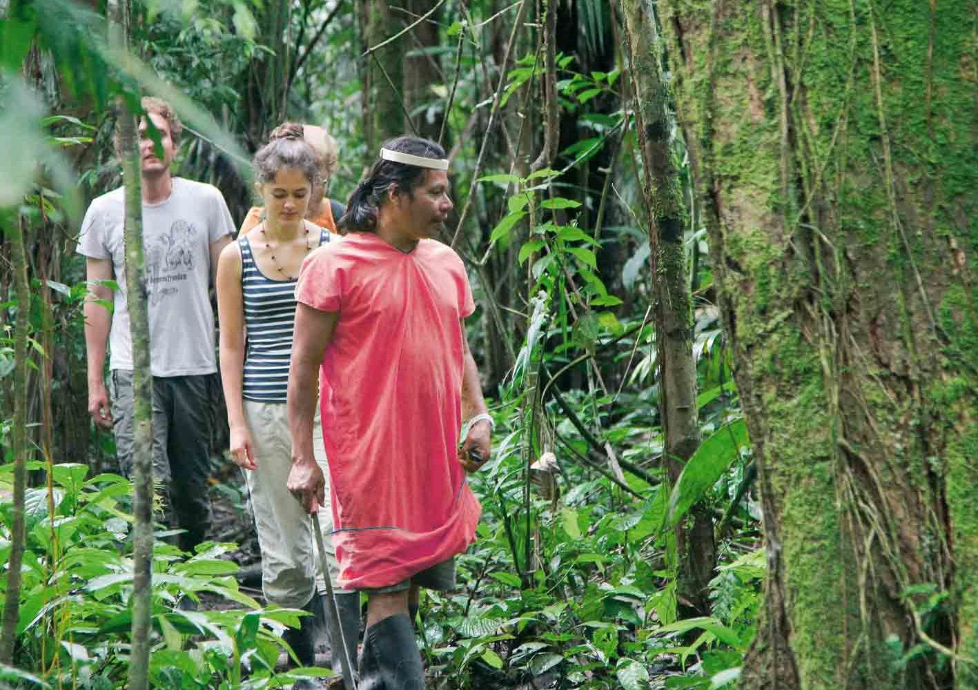 Auf dem Urwald-Trail in Ecuador